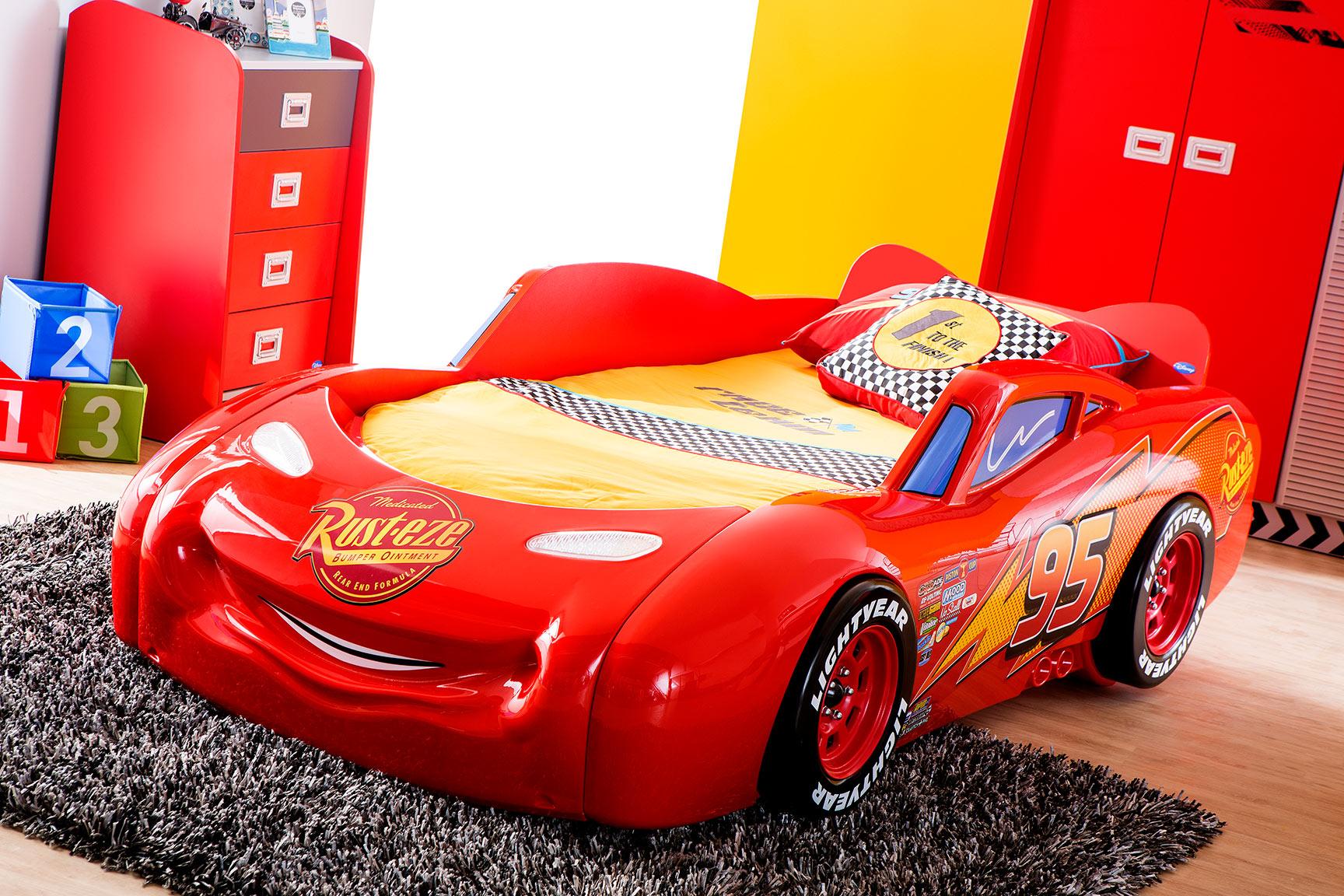 piston cup lit voiture 090 x 190 cm design disney cars modiva