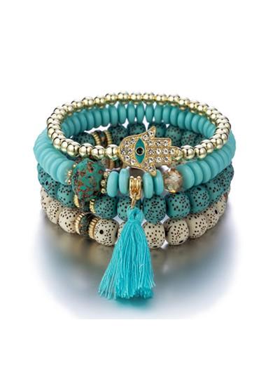 Modlily Tassel Design Bohemia Bracelets for Women - One Size