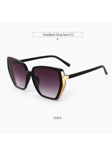 Modlily 1 Pair Purple Cat Eye Detail Sunglasses - One Size