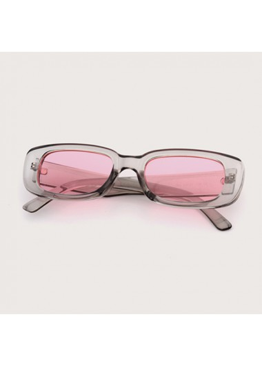 Modlily 1 Pair Pink Rectangle Frame TR Sunglasses - One Size