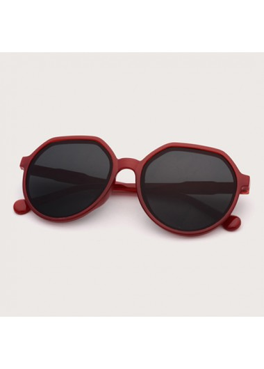 Modlily 1 Pair Contrast Round Frame TR Sunglasses - One Size
