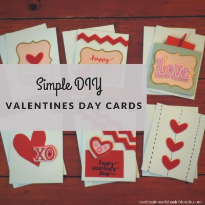 Simple DIY Valentines Day Cards