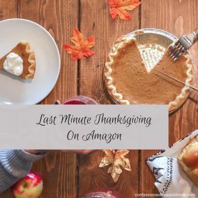 Last Minute Thanksgiving on Amazon
