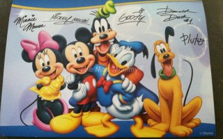 Write a letter to a Disney character, get an autographed photo