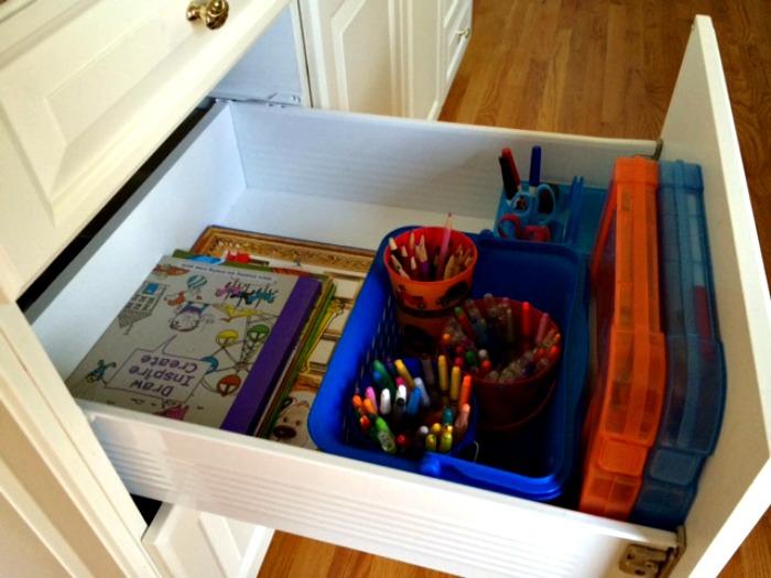 Create an art drawer