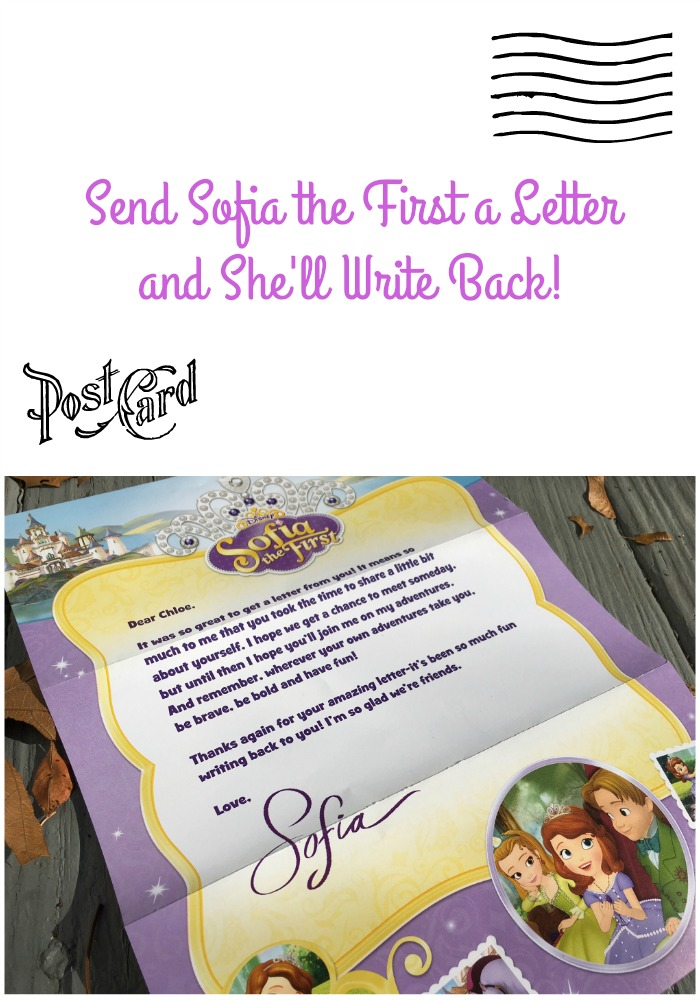 Send Sofia the First a Letter and She'll Write Back!
