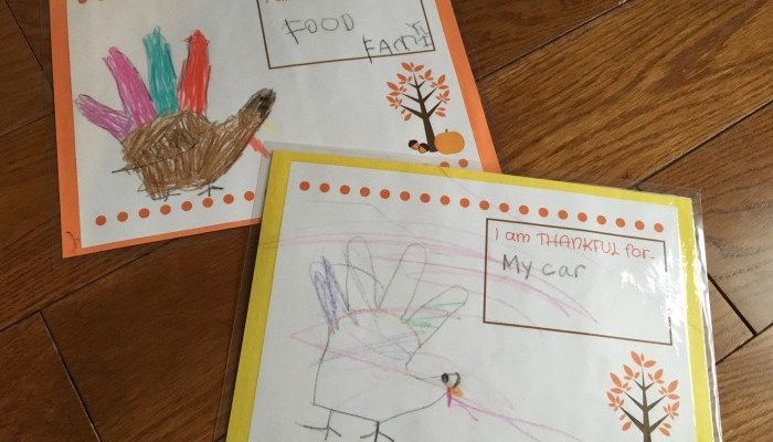 DIY Kids Thanksgiving Place Mat