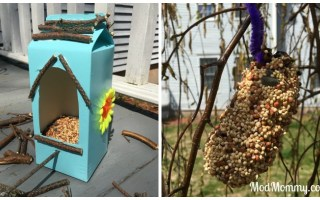 DIY Bird Feeders Made by Kids