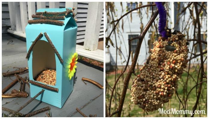 DIY Bird Feeders Made by Kids
