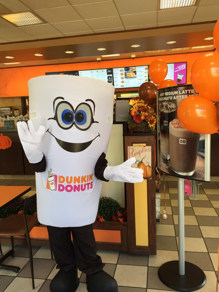 dunkin cup inside store