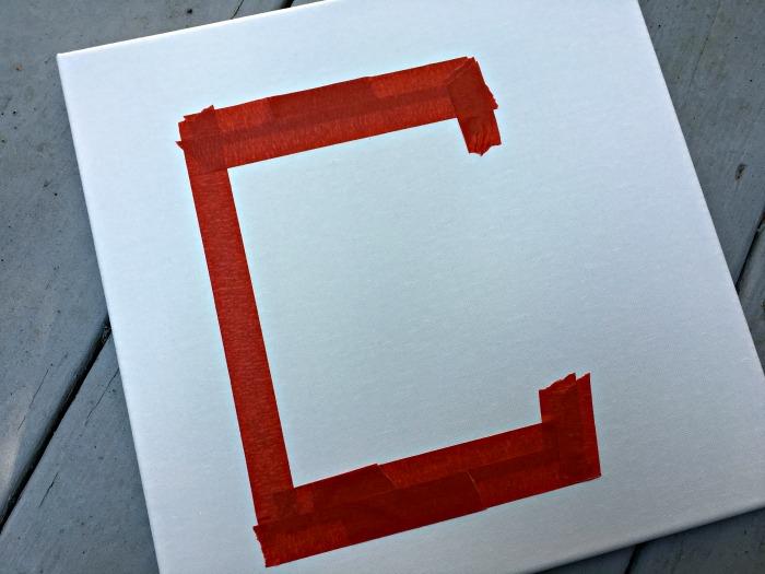 Monogrammed Initial Canvas Kids Art
