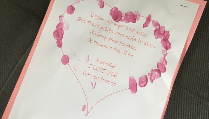 Valentine Fingerprint Keepsake {Free Printable}