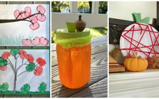 Fall Crafts for Preschoolers: Apple Printing, Apple Plate Lacing, Pumpkin Mason Jar
