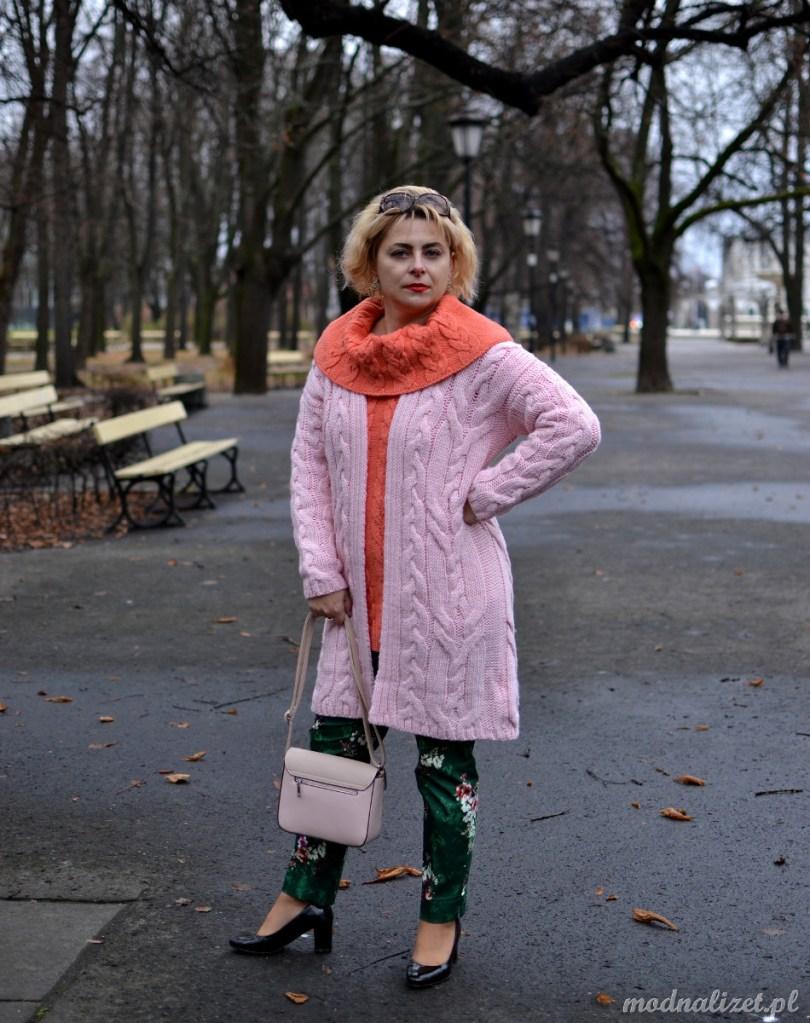 Modna Lizet słodki ciepły sweter
