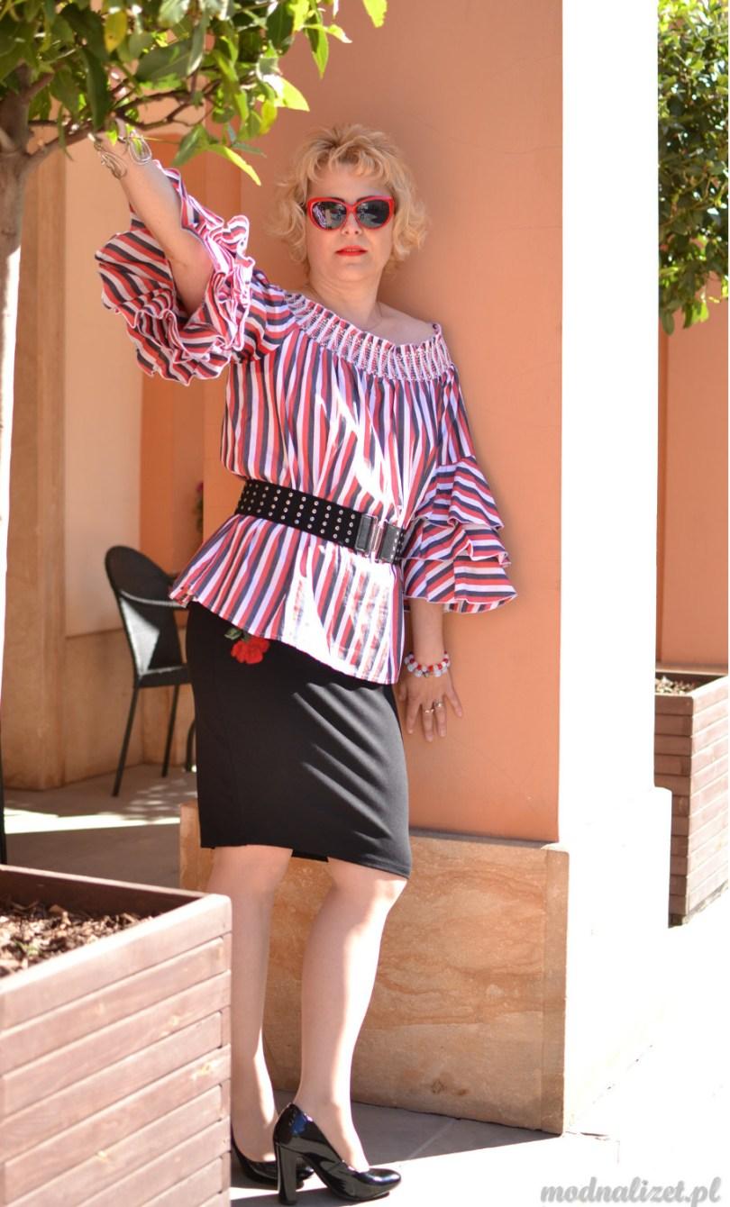 Hiszpanka romantyczna bluzka