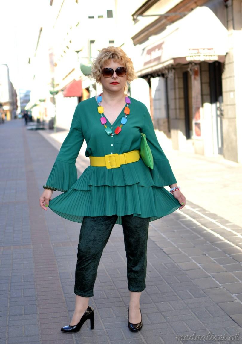 Zielone spodnie i tunika