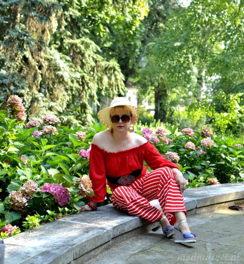 Bluzka czerwona i spodnie