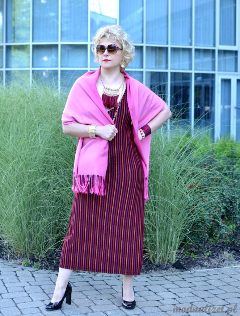 Sukienka kolorowa Modna Lizet