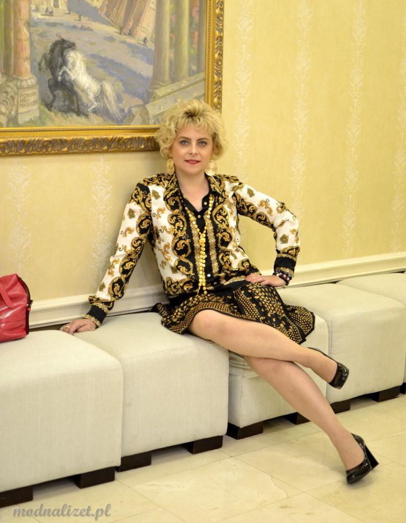 Złota sukienka Dolce Gabbana