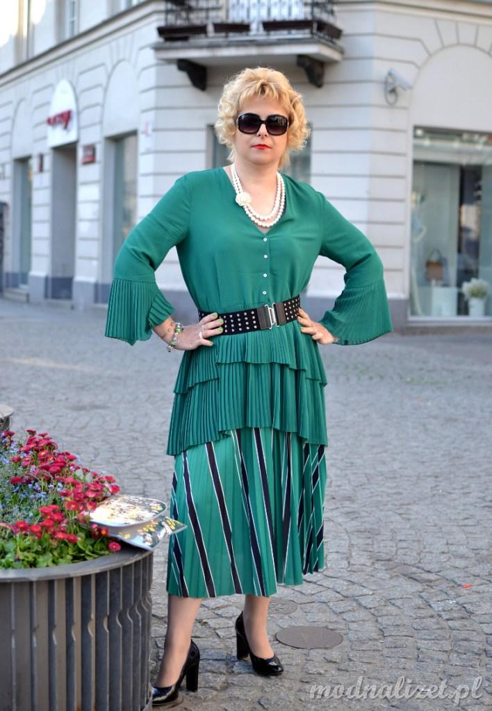 Modna zielona tunika