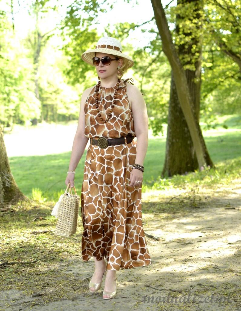 Sukienka żyrafa