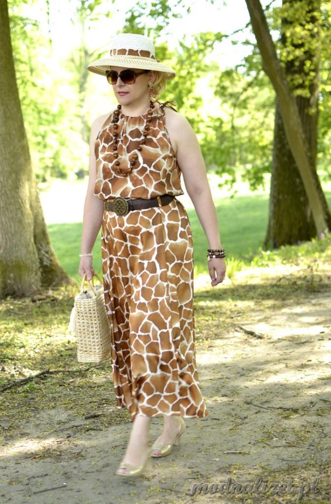 Sukienka w żyrafie cętki
