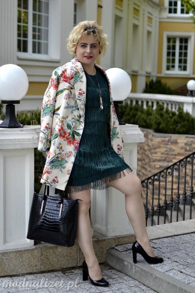 Krótka sukienka vintage