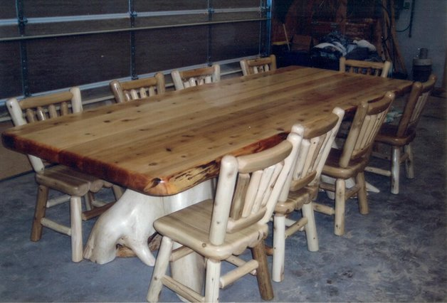 Explore Rustic Log Dining Amp Game Roon Table Sets