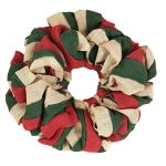 Vhc Brands Red Natural And Green Burlap Wreath Modo Home