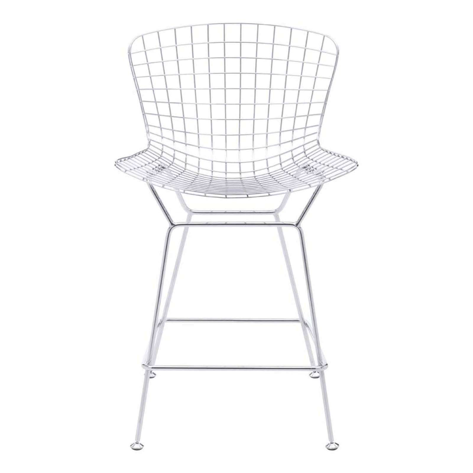 Wire Counter Chair Chrome Set Of 2