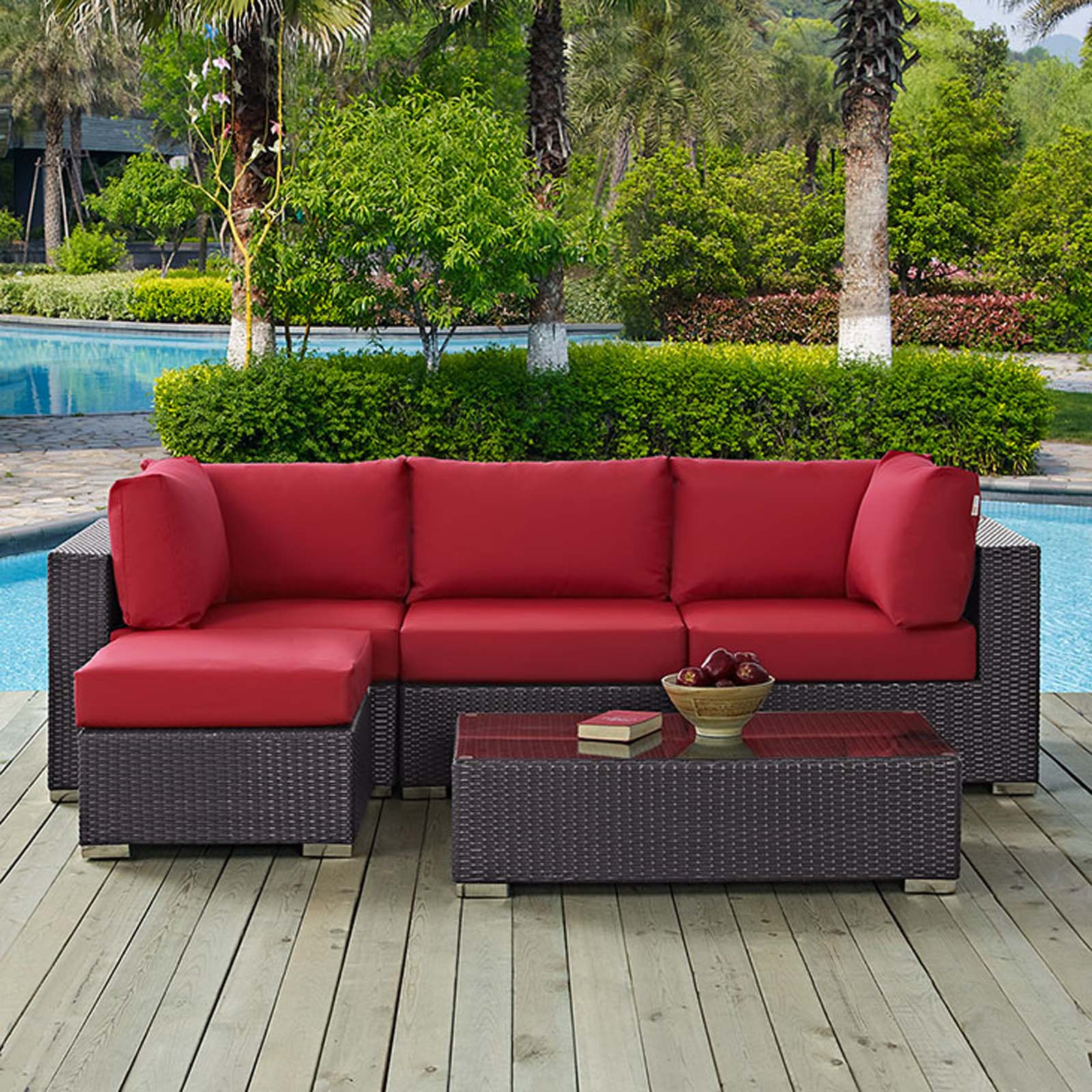Modterior :: Outdoor :: Sectional Sets :: Convene 5 Piece ... on 5 Piece Sectional Patio Set id=45436