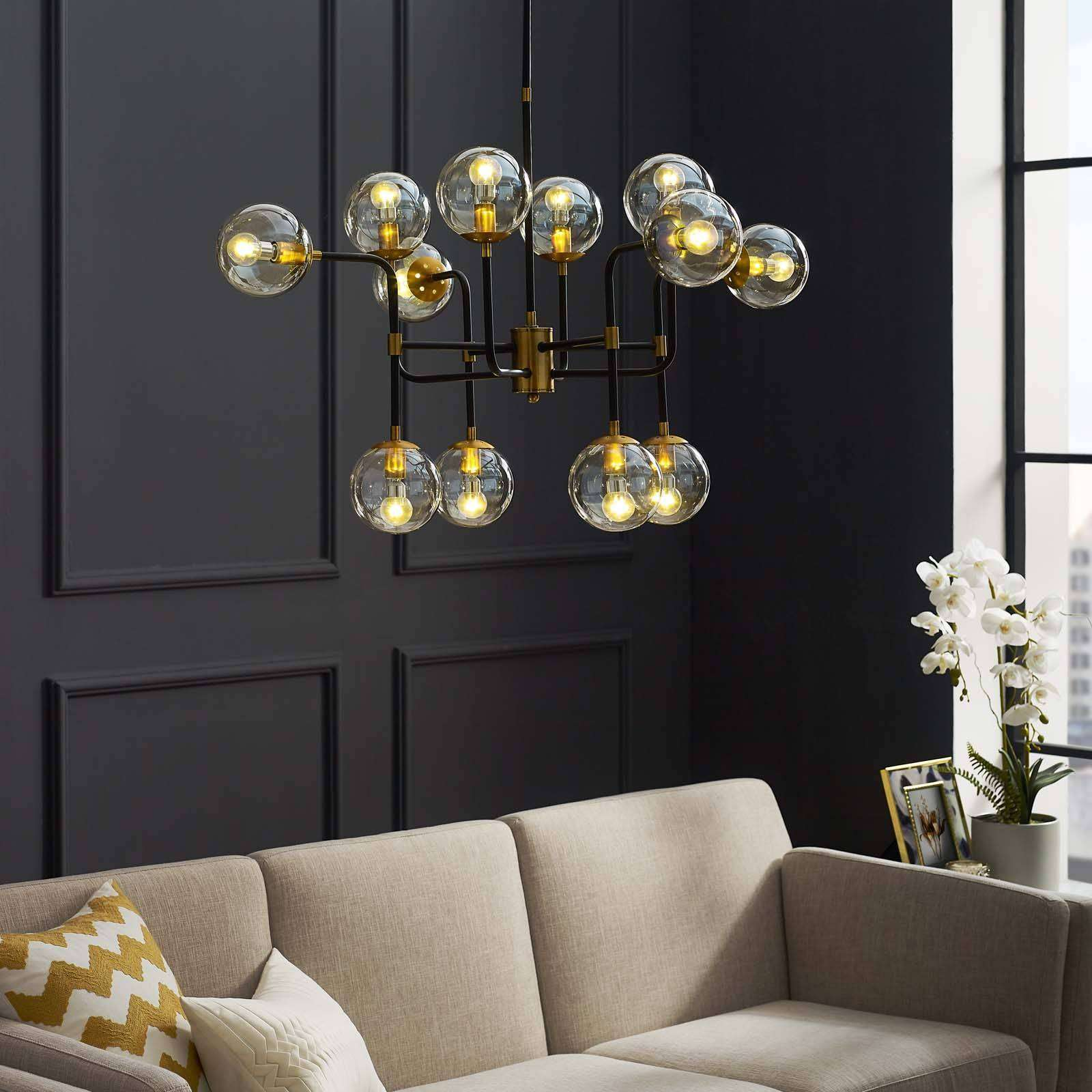 Modterior Lighting Chandeliers Ambition Amber