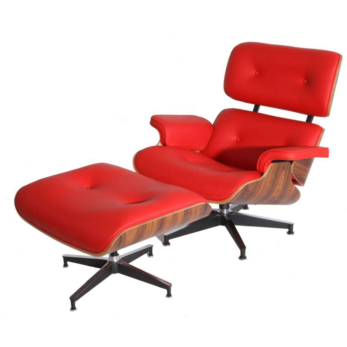 MOD Lounge Chair Amp Ottoman Red Palisander