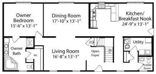 Charleston By All American Homes Two Story Floorplan