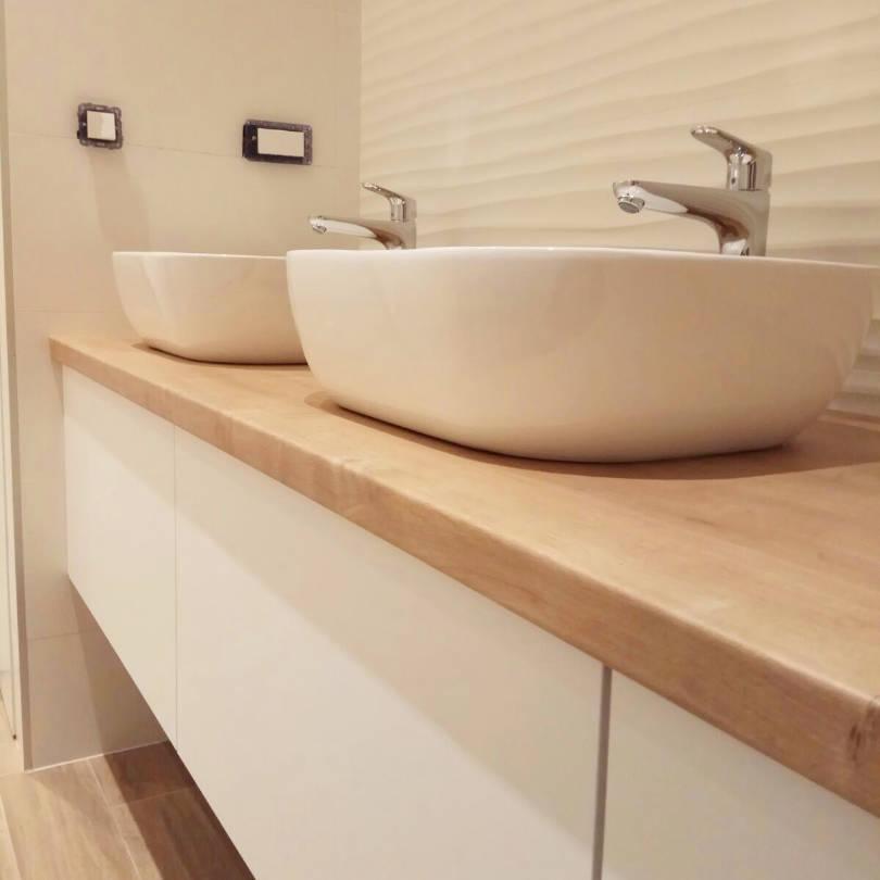 Kupaonski ormarić po mjeri sa dva umivaonika