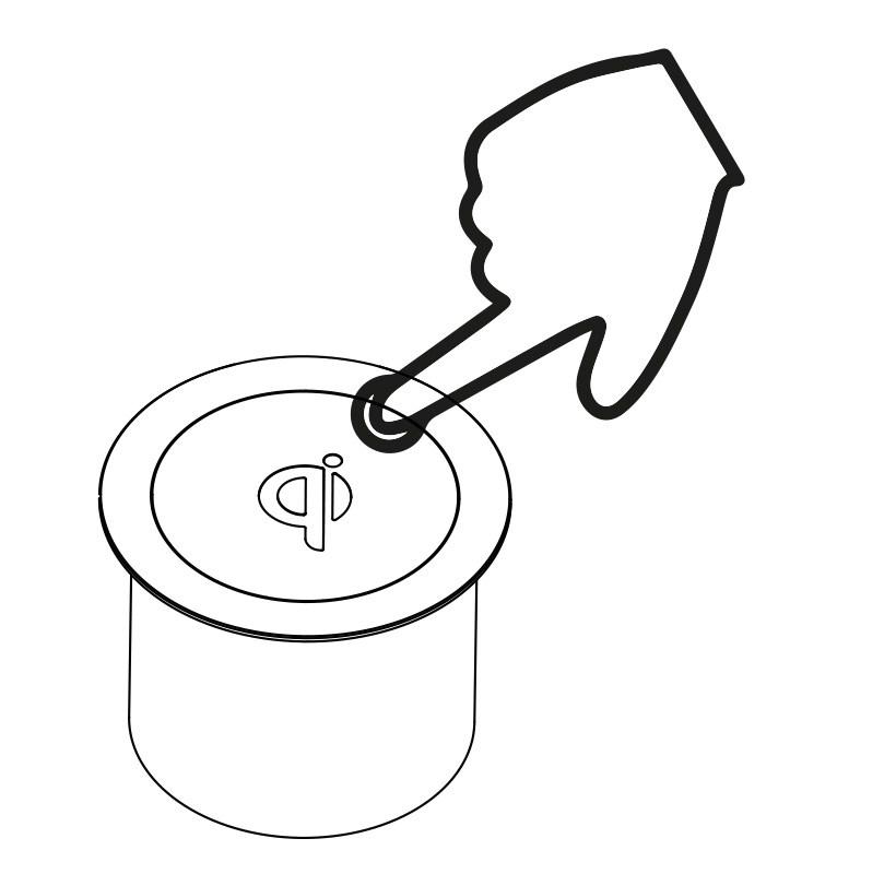 Grafika koja prikazuje način otvaranja Minibatt FR80 multifunkcionalnog ugradbenog punjača