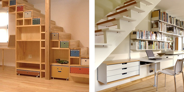Blog de modus vivendi c mo aprovechar el espacio bajo la for Como utilizar el espacio debajo de las escaleras