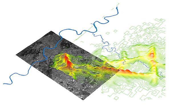 Real Time Rome © MIT SENSEable City Lab, 2006. Cómo entender las dinámicas urbanas a través de la gestión de datos de autobuses, taxis y teléfonos móviles en Roma.