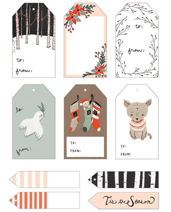 etiquetas imprimibles navidad modusvivendi adornos navideños christmas tags diy handmade caseros