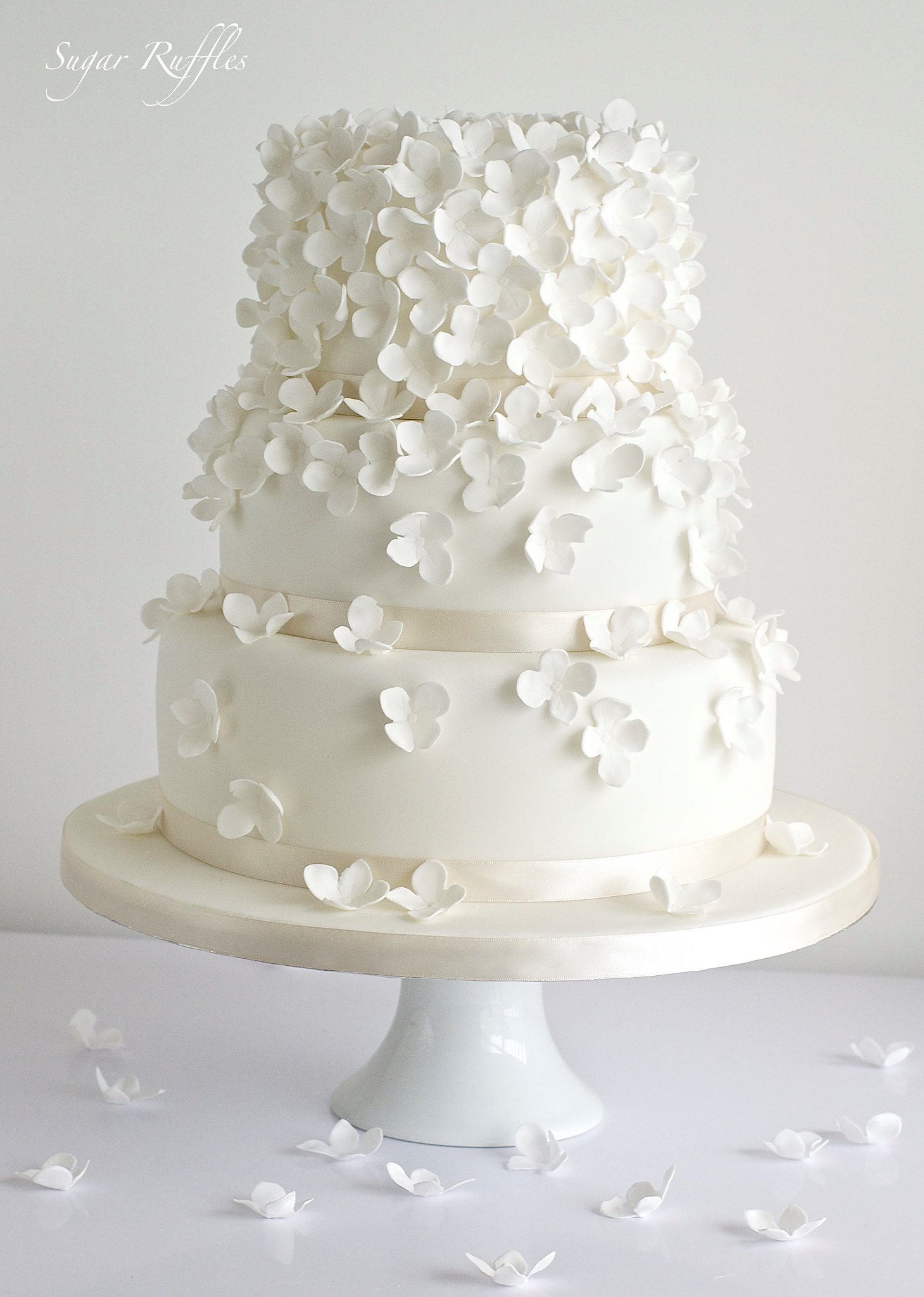Two Tier Baptism Cakes