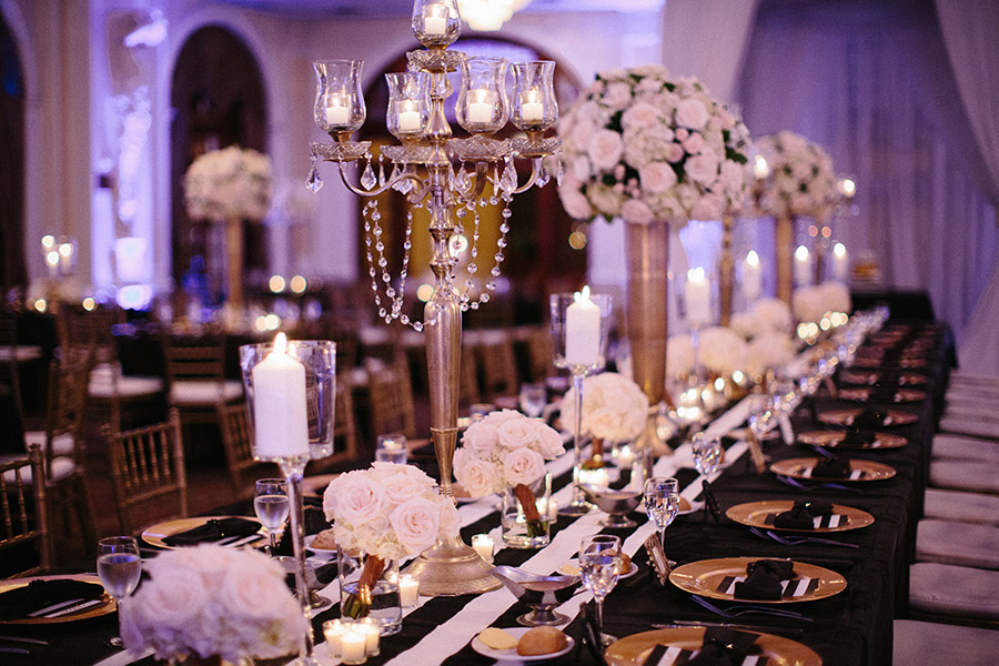 Black And Gold Houston Wedding At The Crystal Ballroom