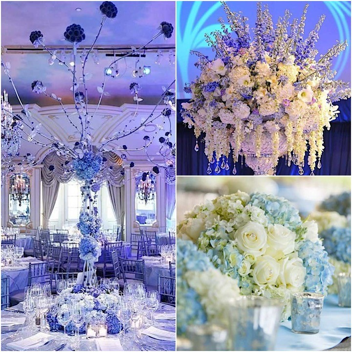 Elegant Shades Of Blue Wedding Centerpiece Ideas - crazyforus