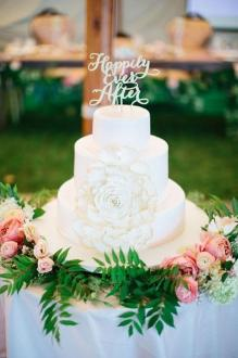 Elegant Wedding Cake Toppers With Script   MODwedding wedding cake topper 7 082115ch