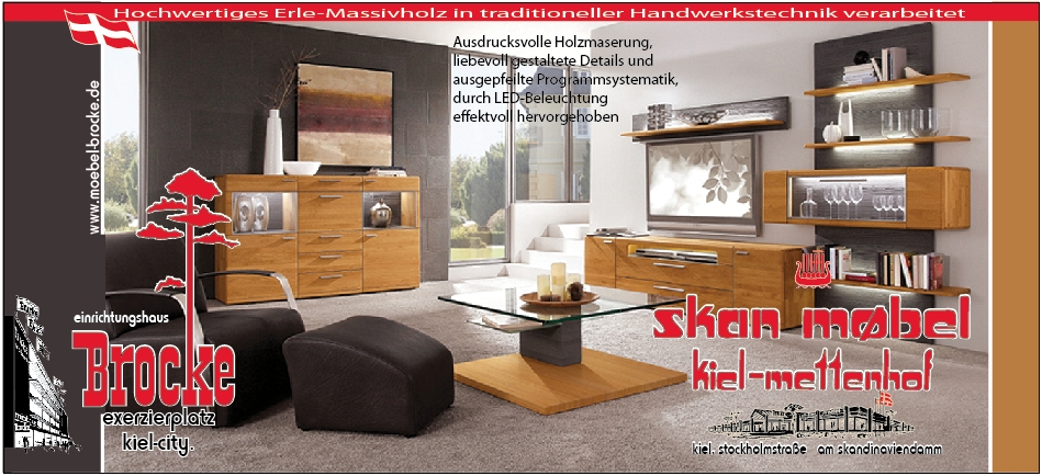 ein st ck natur in erle massiv einrichtungshaus brocke skan m bel. Black Bedroom Furniture Sets. Home Design Ideas