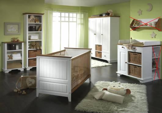 jamie babyzimmer kiefer massiv weiss gewachst