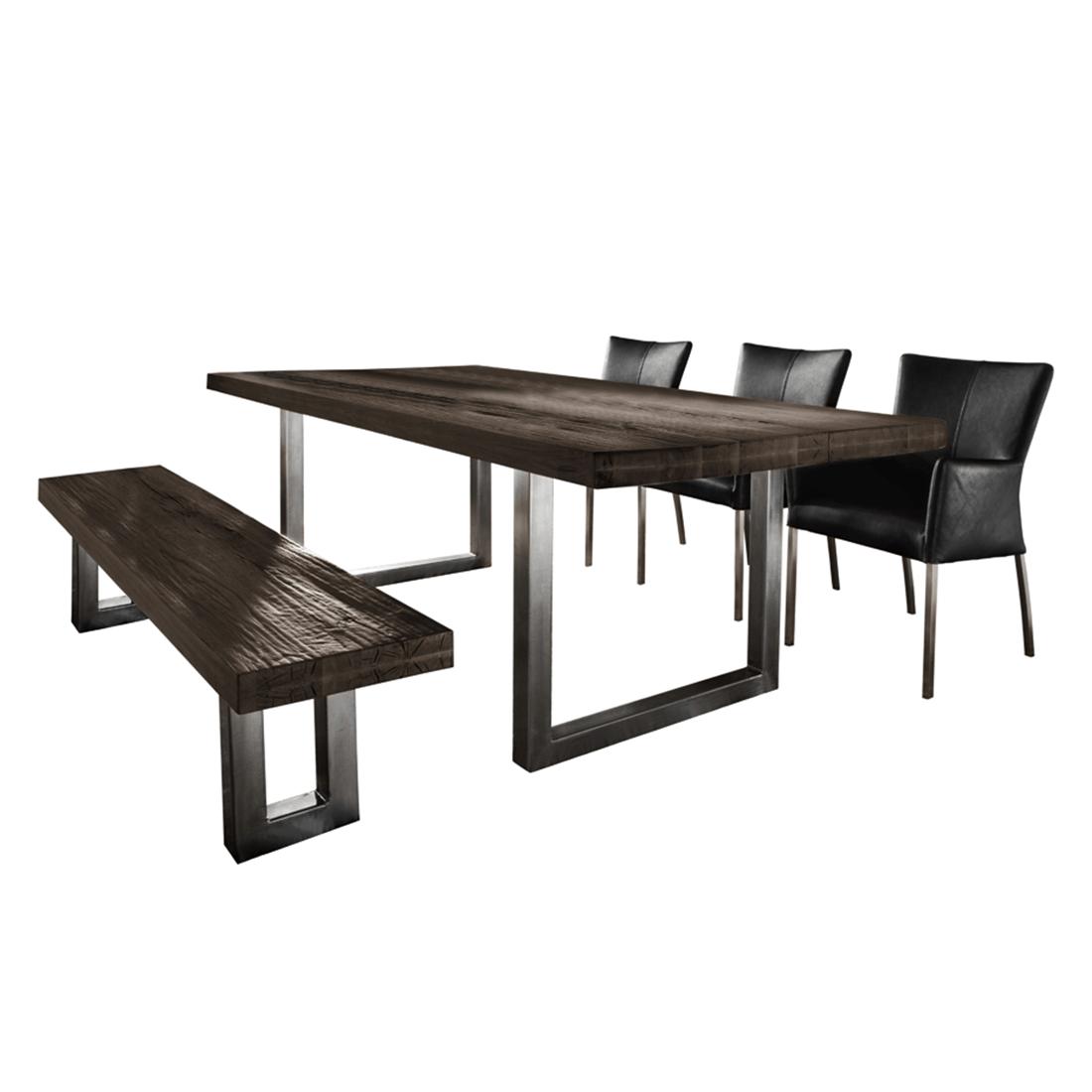 tischgruppe balears 5 teilig balkeneiche b ffelleder. Black Bedroom Furniture Sets. Home Design Ideas
