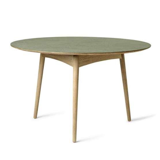 Mater Tisch rund Pine Forest Green Linolium