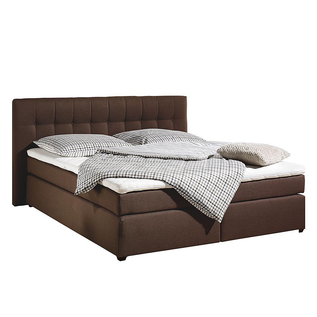 boxspringbett jean inklusive topper strukturstoff 100 x 200cm h2 bis 80 kg. Black Bedroom Furniture Sets. Home Design Ideas