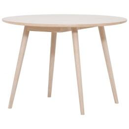 Tisch Vitus macht sich optimal als Tisch in der Küche oder im Esszimmer. Seine runde Form sorgt für das ideale Konversations-Setting – und wenn sich einmal eine große Runde ankündigt