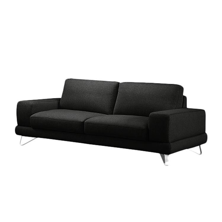 sofa bradley 3 sitzer strukturstoff anthrazit ohne kopfst tze loftscape moebel. Black Bedroom Furniture Sets. Home Design Ideas